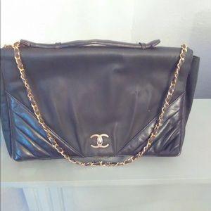 HUGE AUTHENTIC Vintage Chanel Flap